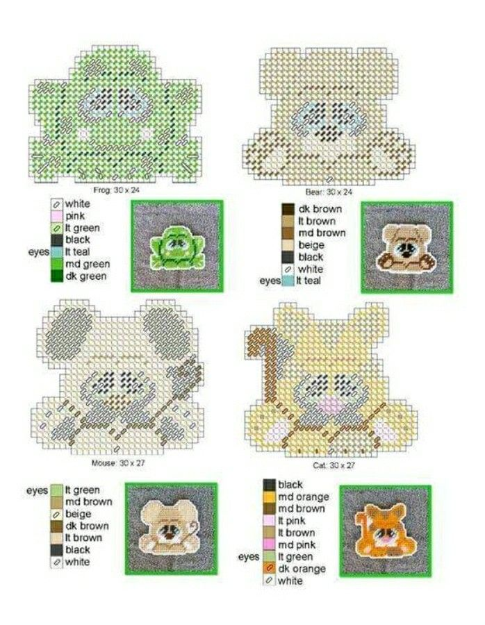 PC Animal Face coasters .. cute for CS as well | plastic canvas ...