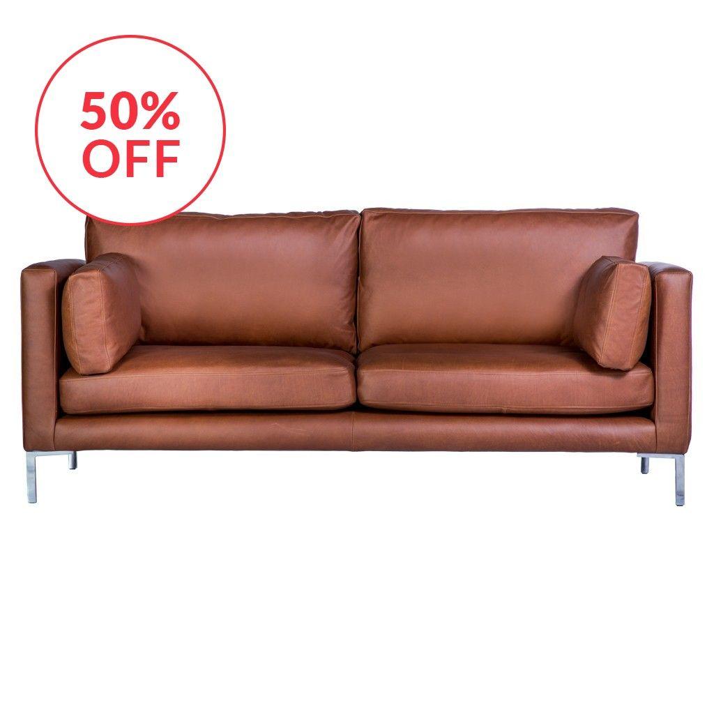 Conrad shop dalston sofa in balmoral leather | 3D tekenen ...