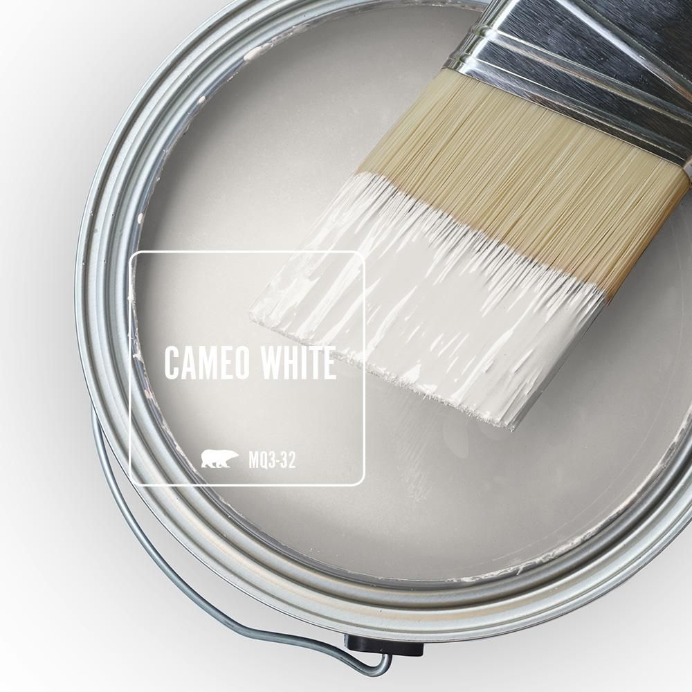 Behr Marquee 5 Gal Mq3 32 Cameo White One Coat Hide Eggshell Enamel Interior Paint Primer 245005 The Home Depot Paint Colors For Home Behr Paint Colors Room Paint