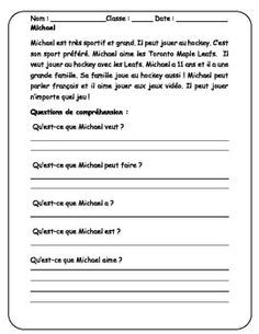 image result for comprehension in french for class 6 french comprehension reading. Black Bedroom Furniture Sets. Home Design Ideas