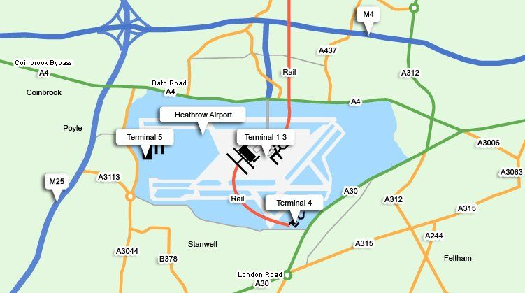 London Map Directions.London Heathrow Maps And Directions For Drivers England Heathrow