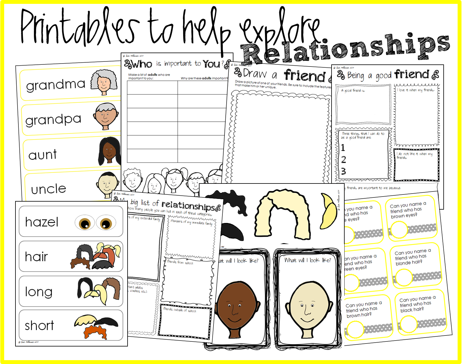 Social Emotional Relationships Activity Bundle