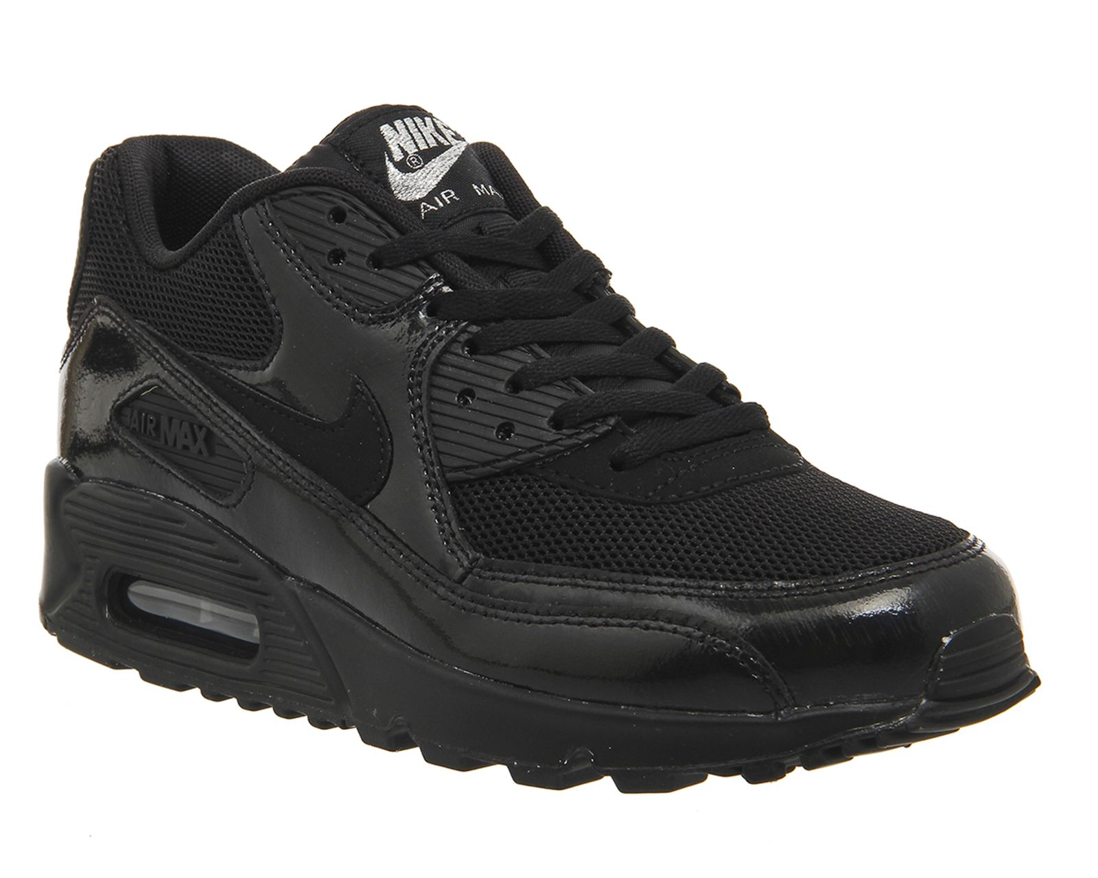 Buy Black Black Metallic Silver Nike Air Max 90 (w) from OFFICE.co