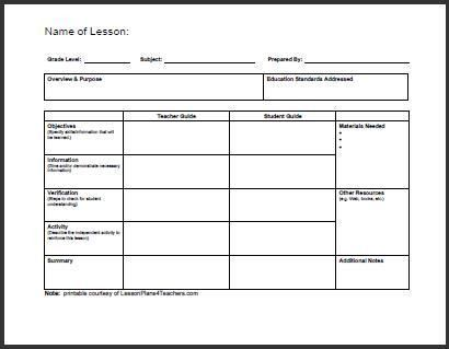 Best 20 lesson plan format ideas on pinterest lesson plan Pinterest - sample simple lesson plan template