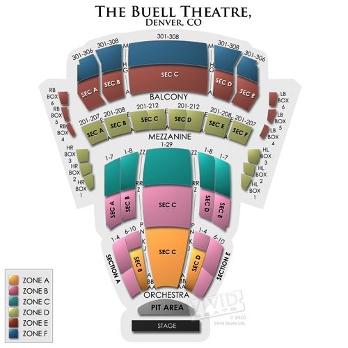 Buell Theatre Seating A Guide For Lie Shows At The Denver Center Theater Seating Concert Venue Theatre