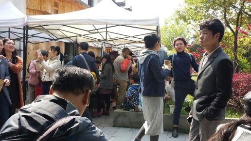 Zaterdagochtend  markt Jingdezhen.