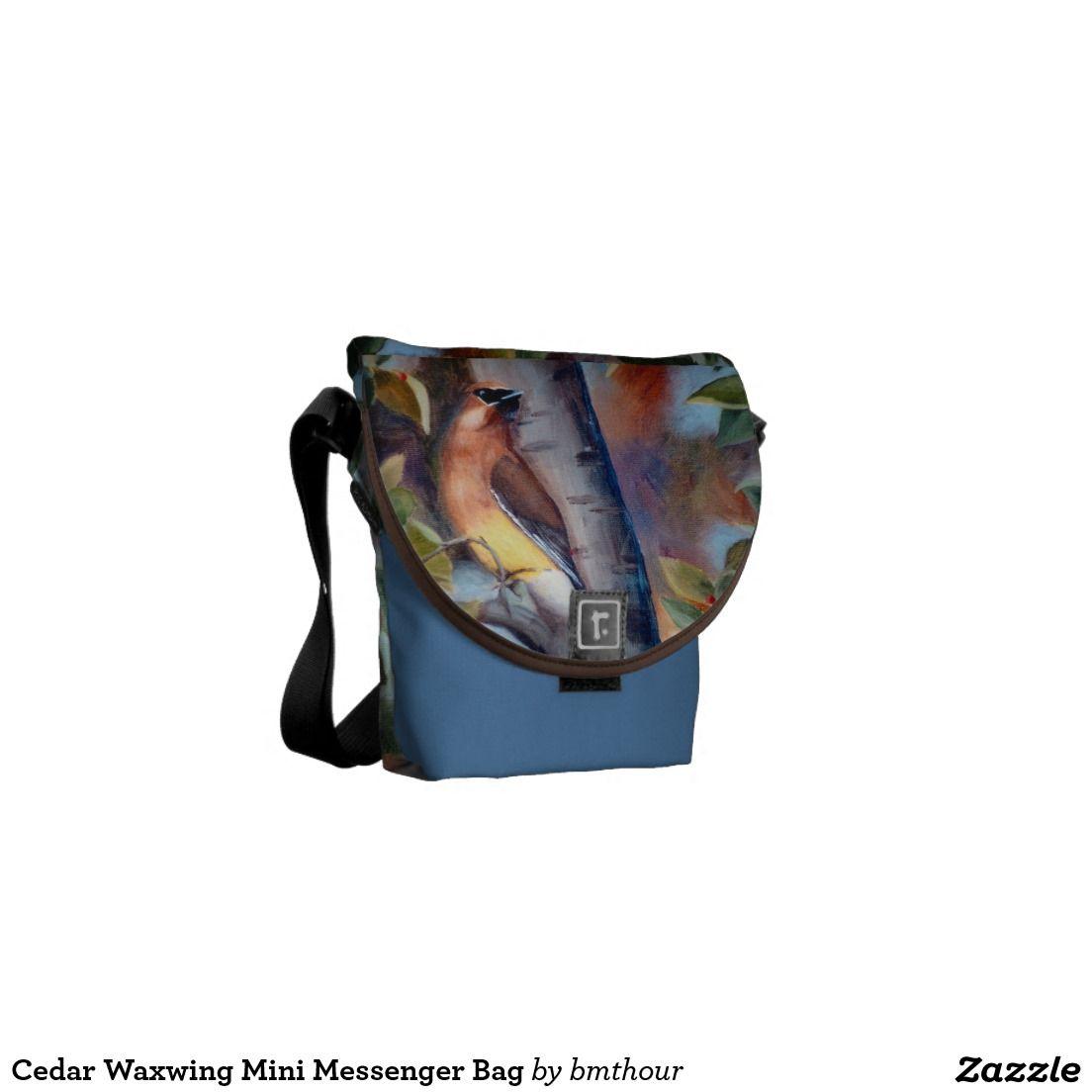 Cedar Waxwing Mini Messenger Bag