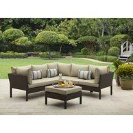 Mainstays Sandhill 7-Piece Metal Patio Furniture Sectional Set, with Cushions and Pillows - Walmart.com