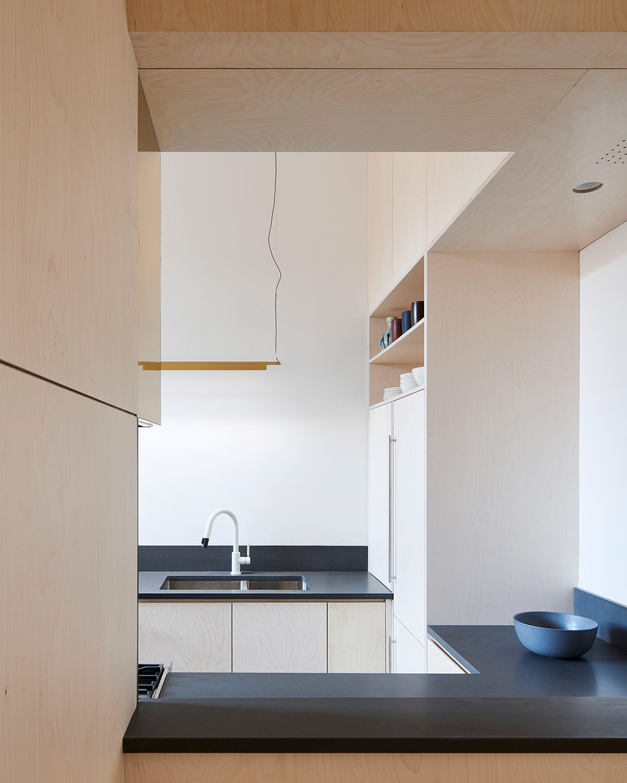 Baltic birch storage system organises Brooklyn apartment