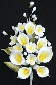 Gumpaste Calla Lilly Gumpaste Calla Lily Spray 6 Cake Decorating Edibles Flowers Calla Lily Flower Spray Gum Paste Flowers