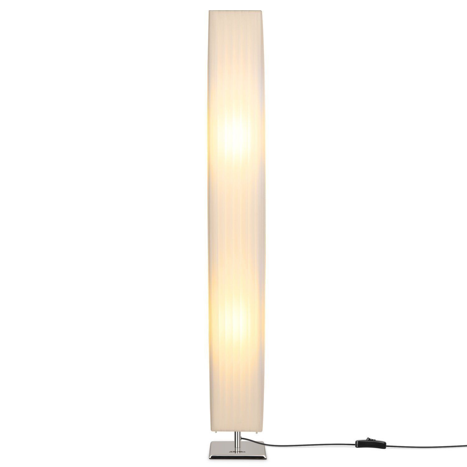 Albrillo Contemporary Floor Lamp With Fabric Shades 46 Inch Tall