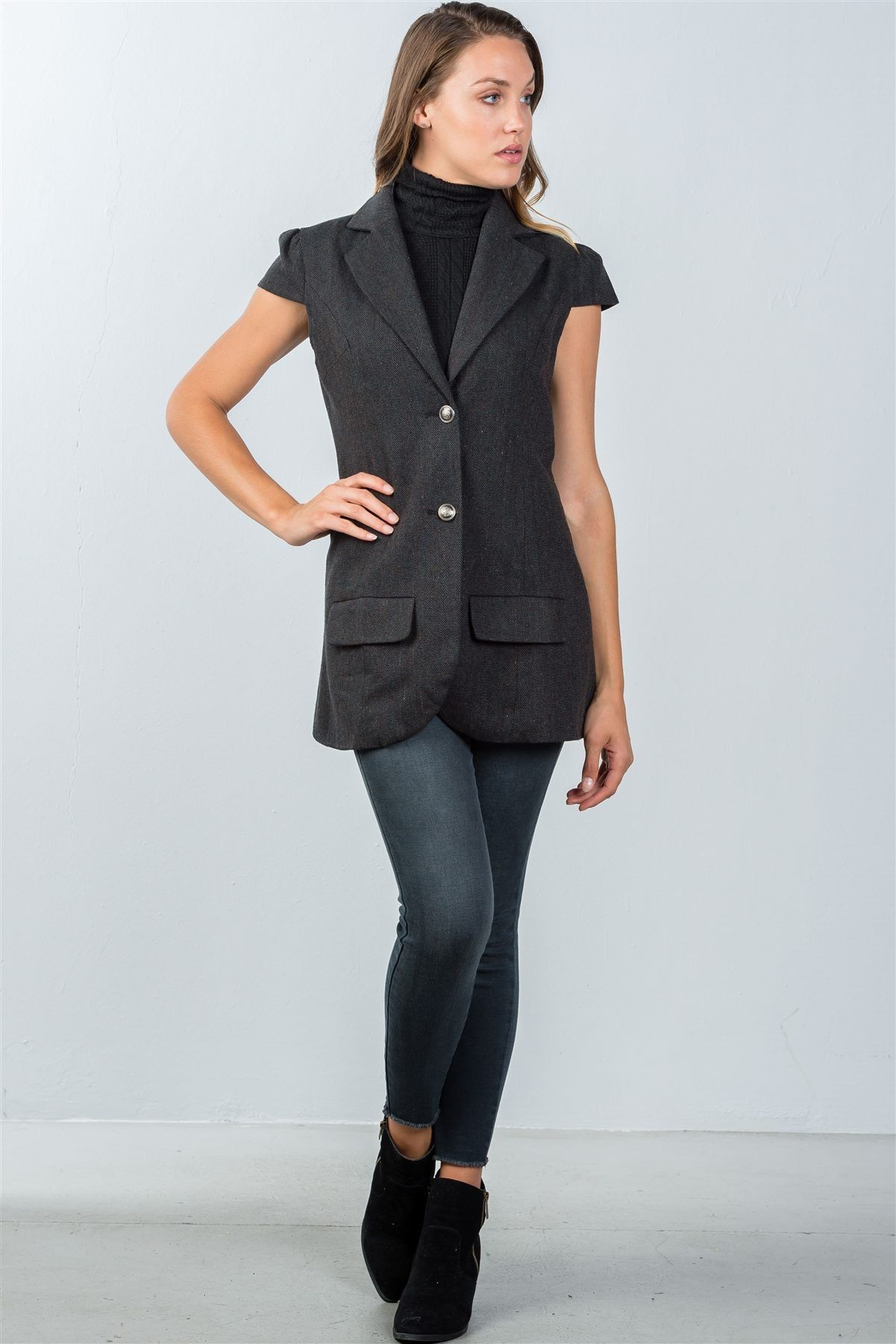 Jacket with Cap Sleeves