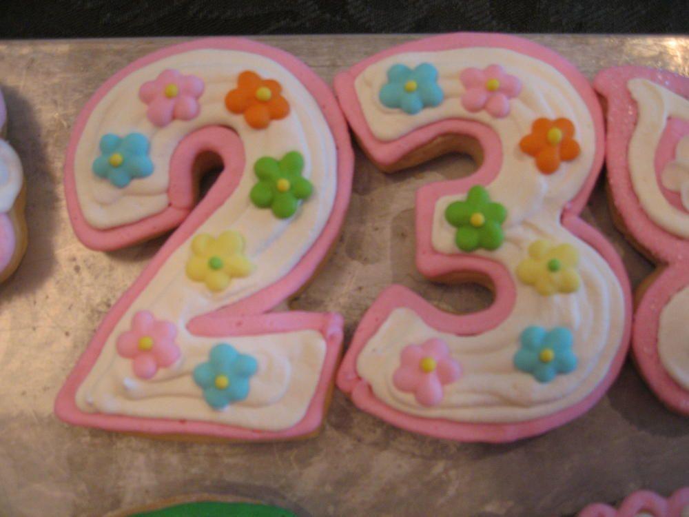 number 23 cookies birthday