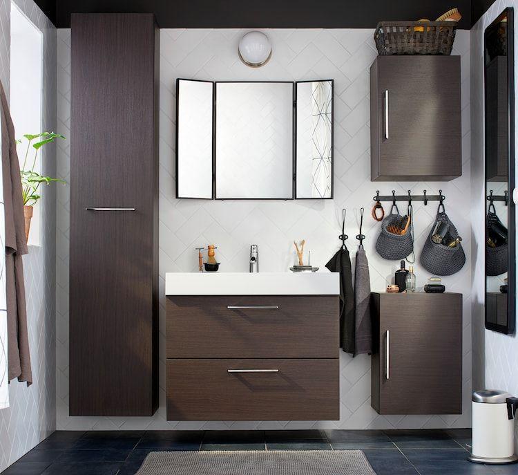 Badezimmer Ideen Inspirationen In 2020 Mit Bildern Dunkle Mobel Badezimmer Badezimmerideen