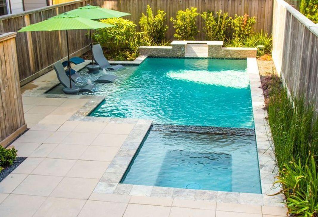 30 Amazing Swimming Pools Design Ideas For Small Backyards Backyard Pool Designs Small Backyard Pools Small Pool Design