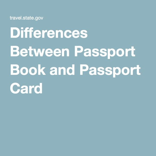 Differences Between Passport Book and Passport Card