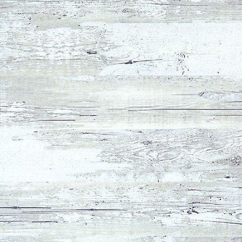 Walls Republic R1880 Distressed Wood Rustic Wallpaper Light Grey