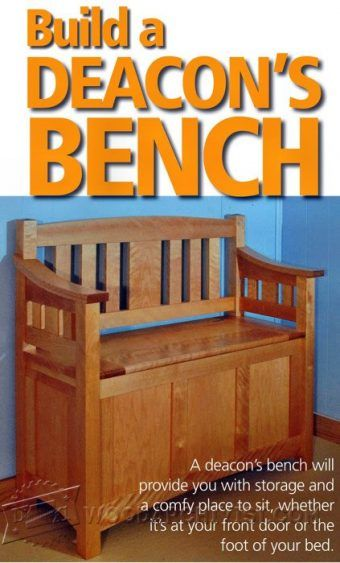 1078 Deacons Bench Plans Furniture Plans Pinterest Bench Plans