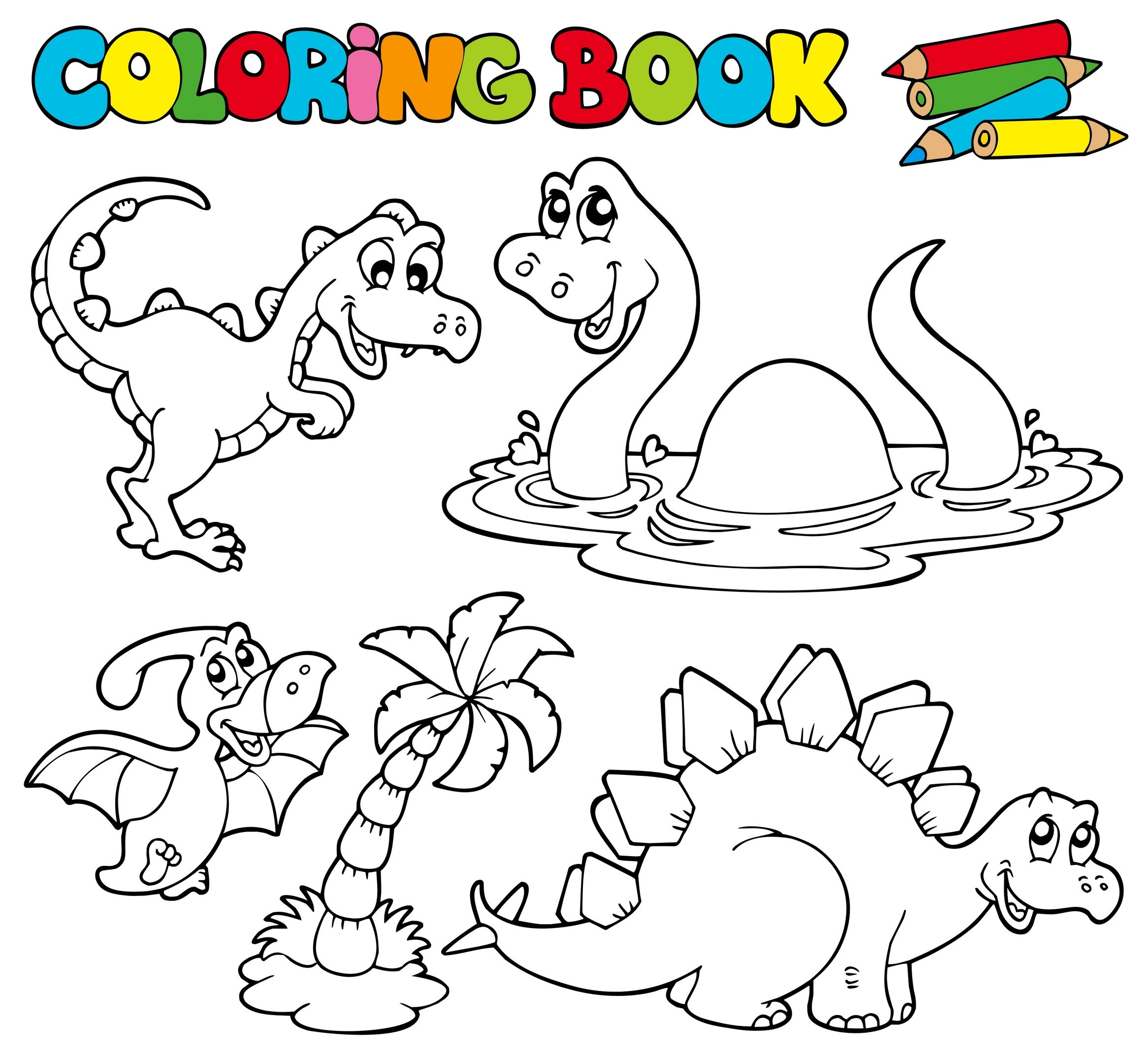 Dinosaur Song and Dinosaur Coloring Page | Boyama ...