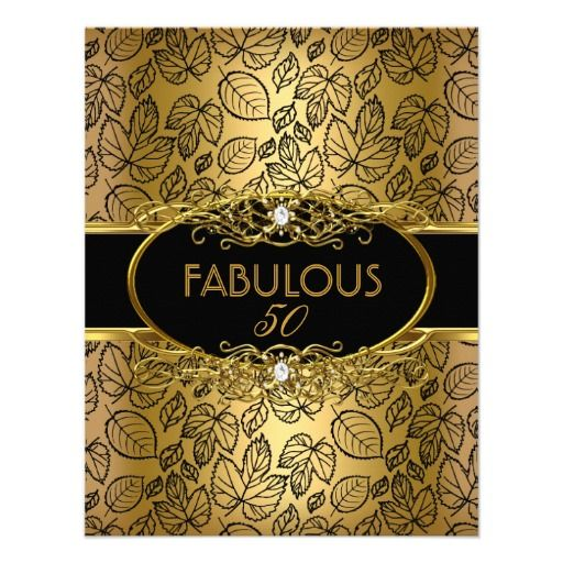 50 And Fabulous Meme: Fabulous 50 50th Birthday Party Gold Damask Invitation