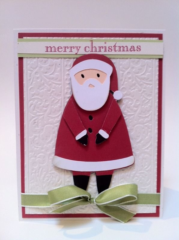 Santa Card Cricut Christmas Cards To Make Merry Christmas Card Christmas Cards