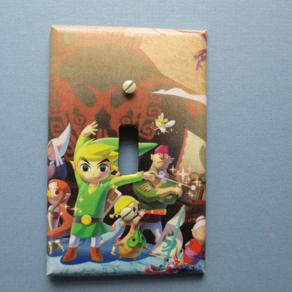 Link Windwaker switch plate by TheRecycledReader on Etsy, $3.00