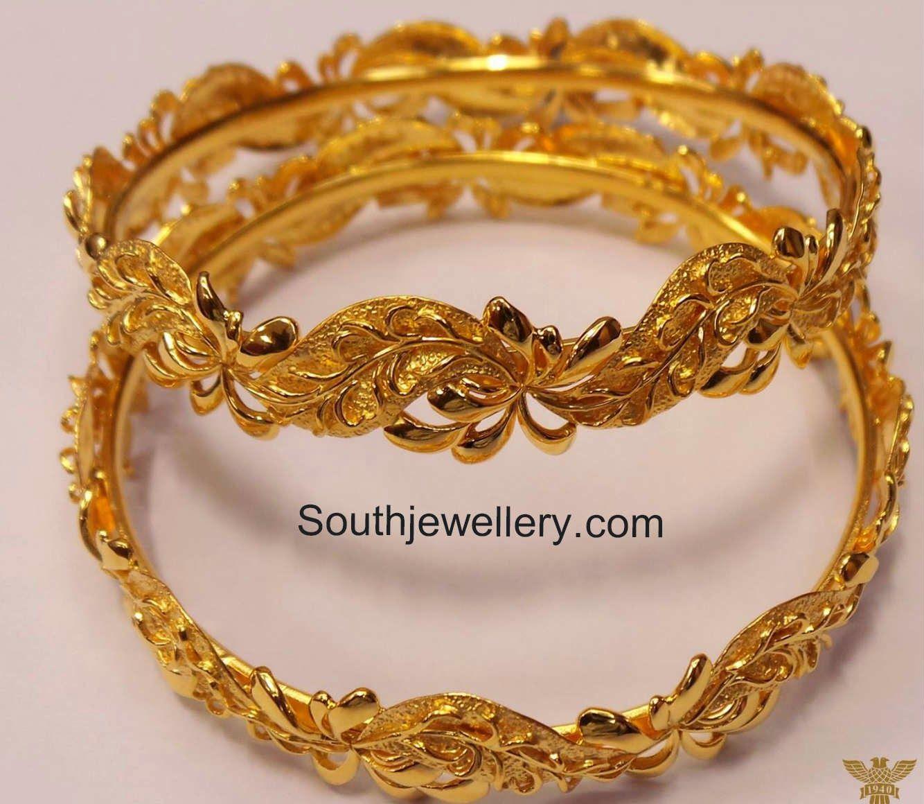latest plain gold bangles designs | Cute things | Pinterest | Gold ...