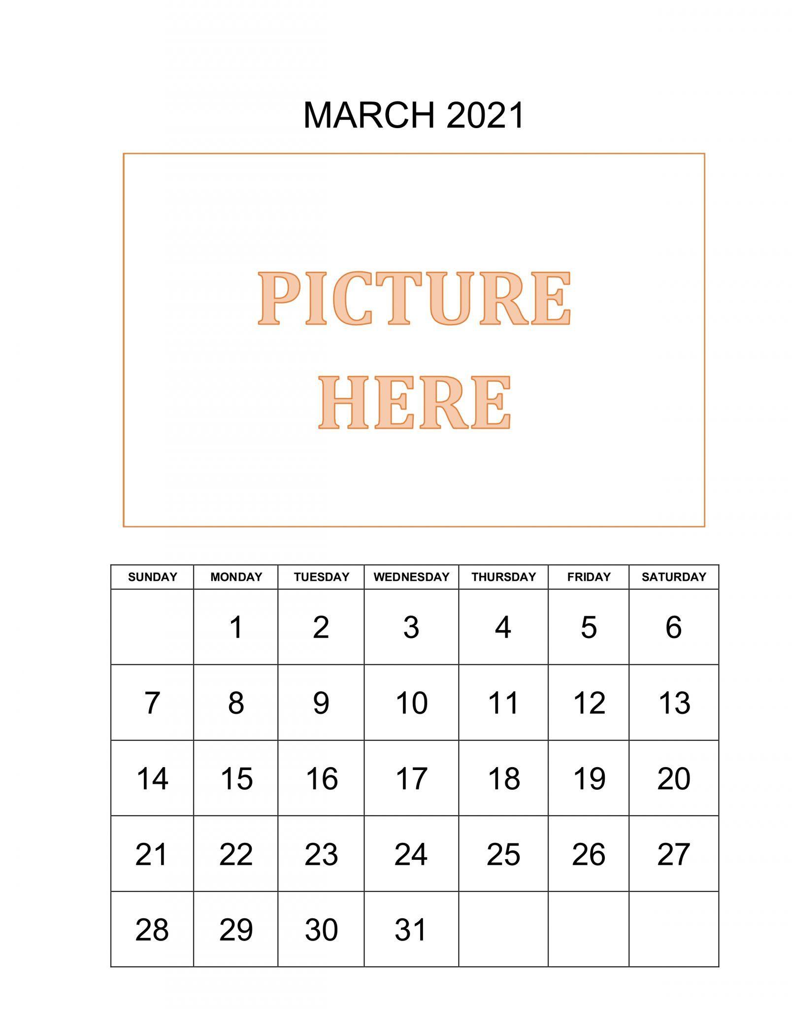 Personalized Calendar March 2021 Personalised Calendar Calendar Template June 2019 Calendar