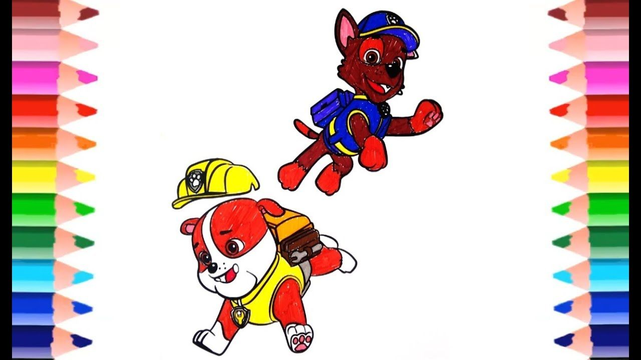 How to draw PAW PATROL. DRAWING AND COLORING PAW PATROL