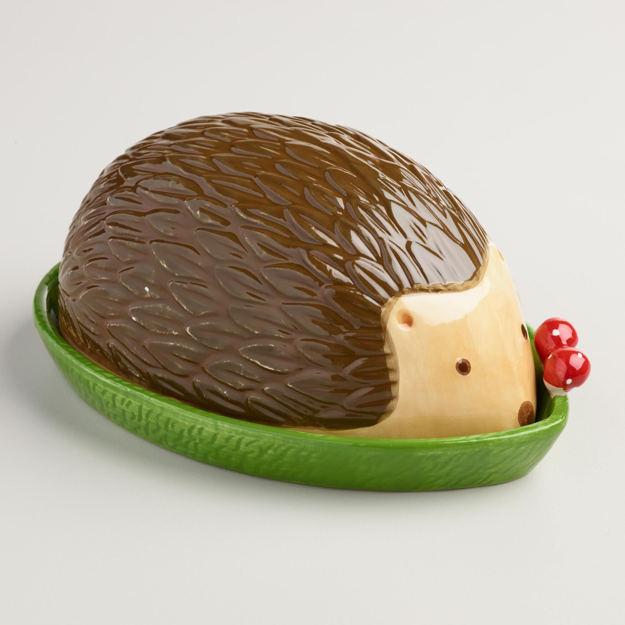 Our Adorable Woodland Critter Butter Dish Is Shaped, Painted And Detailed  Like A Real Hedgehog