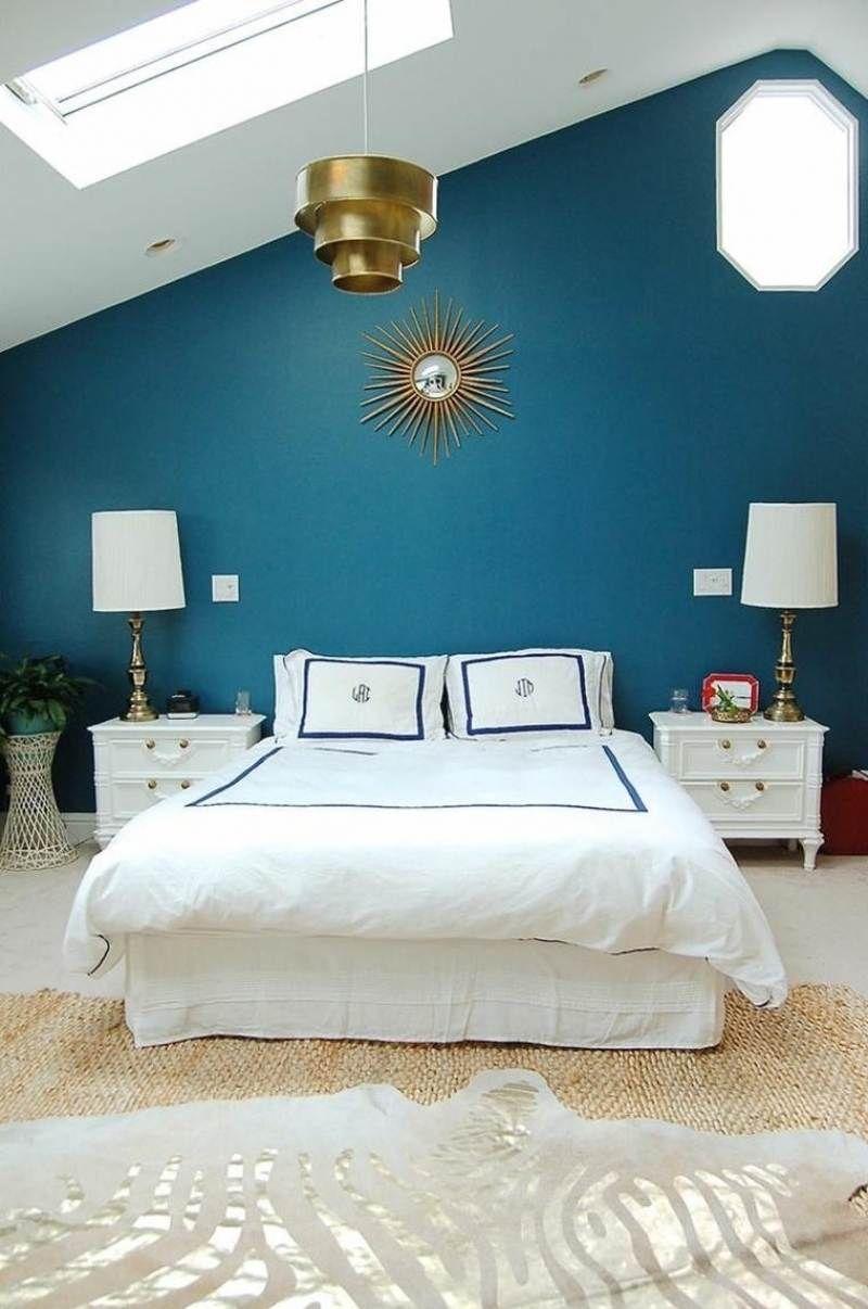 Chambre bleu canard avec quelle couleur toutes nos id es - Idee peinture chambre mansardee ...