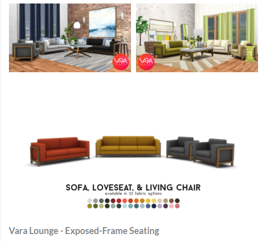 Vara Lounge by peacemaker ic via tumblr   Living Room   BCG   Sims 4