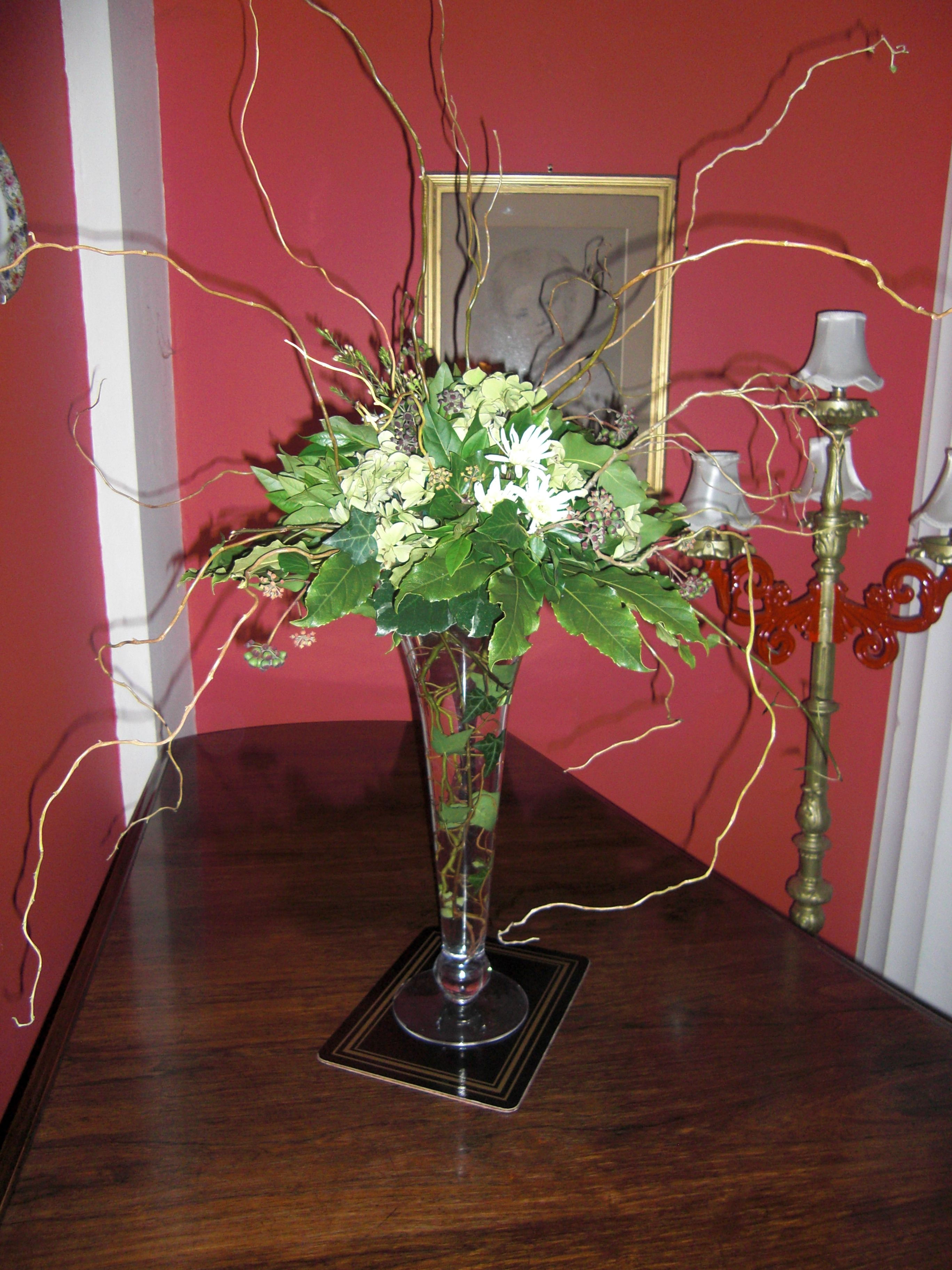 Winter wedding table centre by liz hodgson wedding table