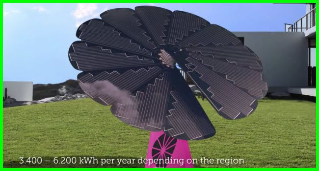 The Solar Smart Flower From Austria Solar Flower Solar Solar Panels Design