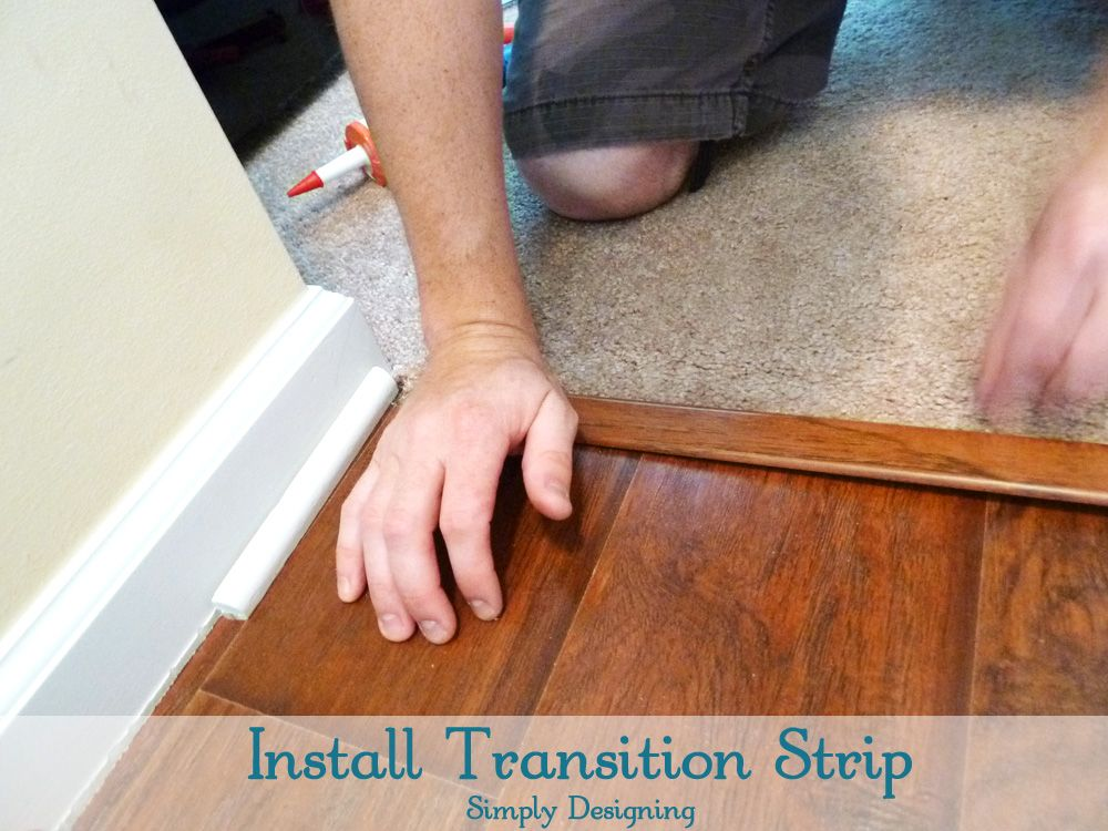 How To Install Floating Laminate Wood Flooring Part 3 The Finishing Touches Simply Designing W Installing Laminate Flooring Transition Strips Diy Flooring