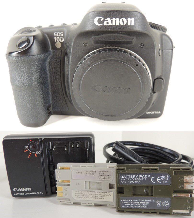 Canon 10d 6 3 Mp Digital Slr Camera Body Batteries Works Great No Auto Focus Body Battery Digital Slr Camera Camera