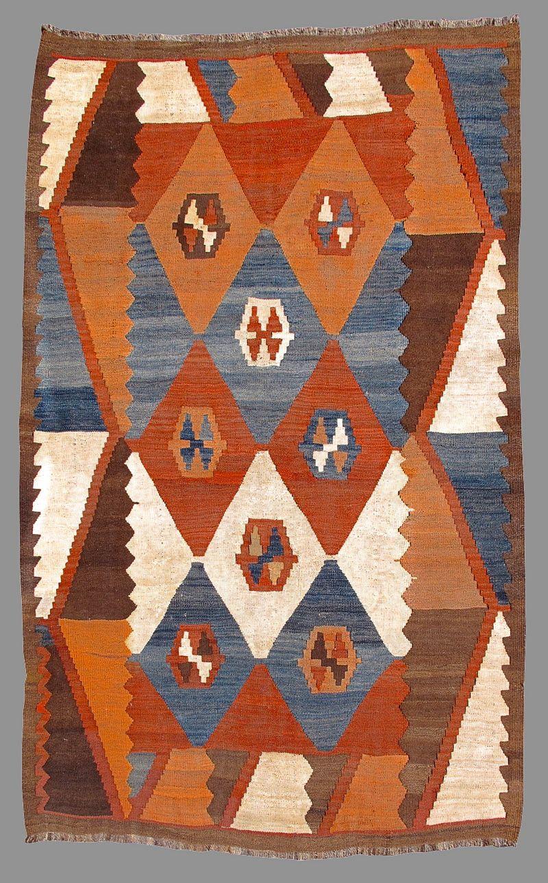 Tajik Kilim Early 20th C Color On Your Floor Fabric