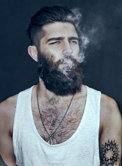 Sexy guy with beard