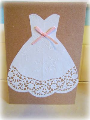 twobutterflies easy diy bridal shower card