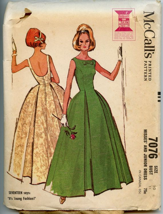 8bc12cd768ae 1960s Dress Pattern McCall s 7076 Misses Dress by GreyDogVintage ...