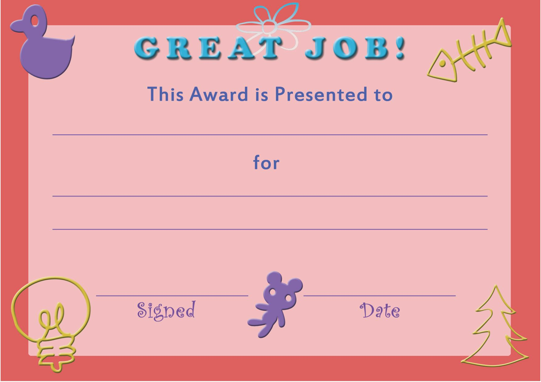 28 Free Printable Certificate Templates For Kids In