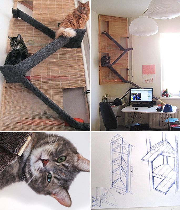 The Evolution Of A Homemade Cat Tower Pets At Home