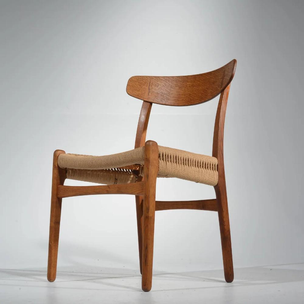 Early Hans Wegner Dining Chairs Model Ch 23 By Carl Hansen Son