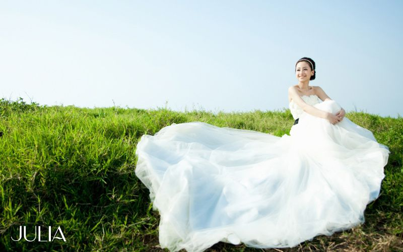 婚紗照--很自在的笑容