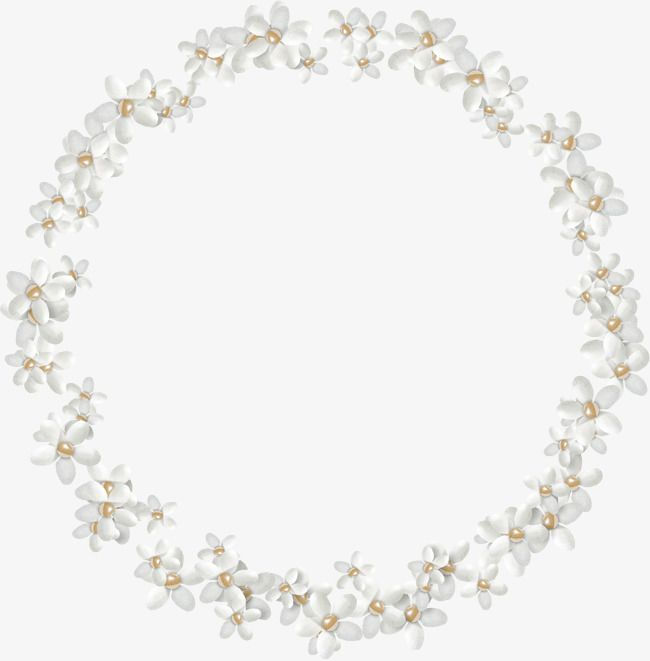 White Flowers Circle Pattern Flower Png Images Circle Clipart Clip Art