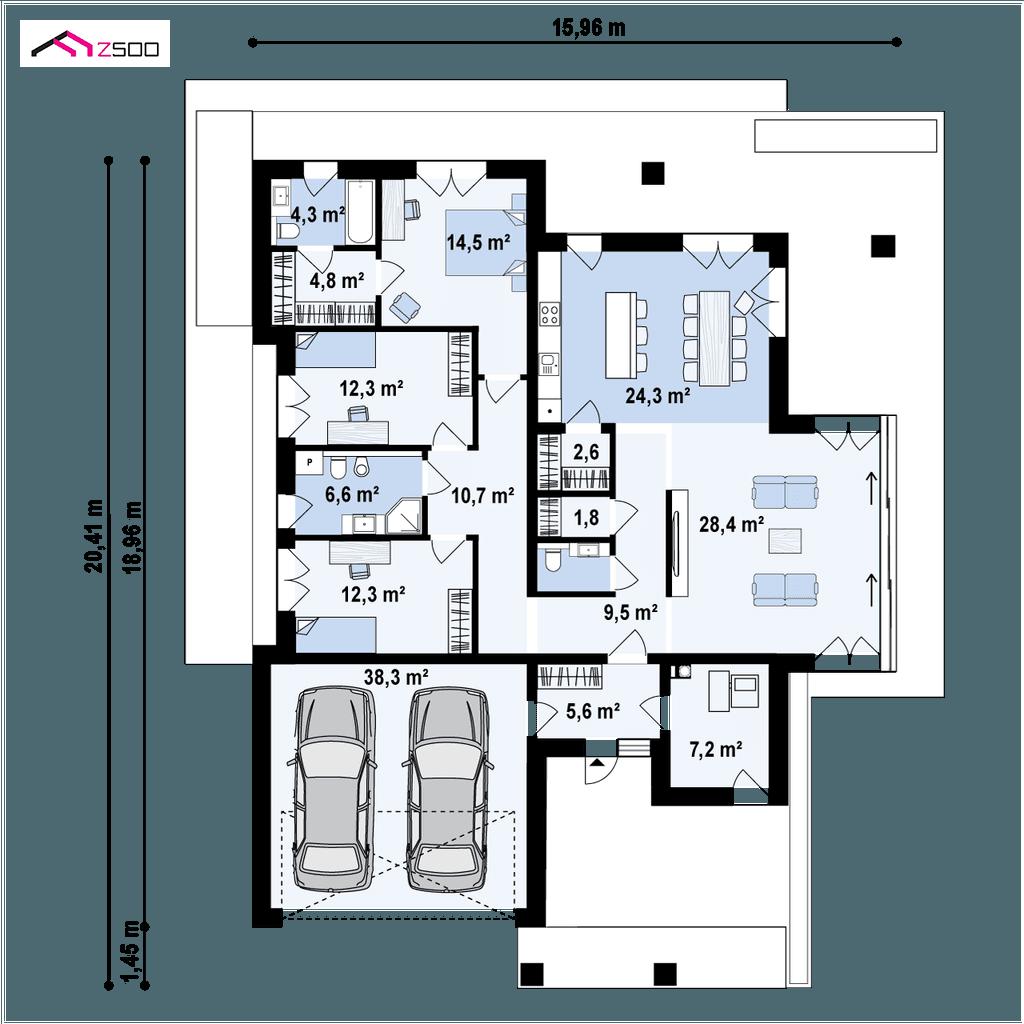 Projekt Domu Z425 House Floor Plans House Flooring Floor Plans