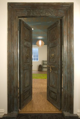 Doors yoga studio design pictures remodel decor and ideas page also room asian home gym http houzz photos rh pinterest
