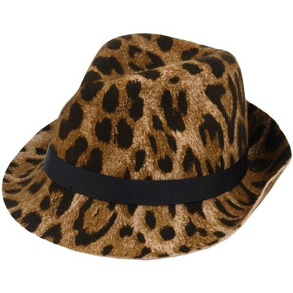 227755b12906 Roberto Cavalli Hat ($155) ❤ liked on Polyvore featuring accessories, hats,  camel, brimmed hat, logo hats, leopard print hats, leopard hats and roberto  ...