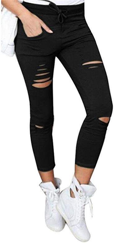 Photo of Pantalones Vaqueros Mujer Rotos Mallas Mujer Fitness Sexy Leggings Yoga Deportiv…