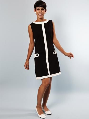 Louise MADEMOISELLE YEYE Retro 60s Mod Shift Dress | atomretro.com ...